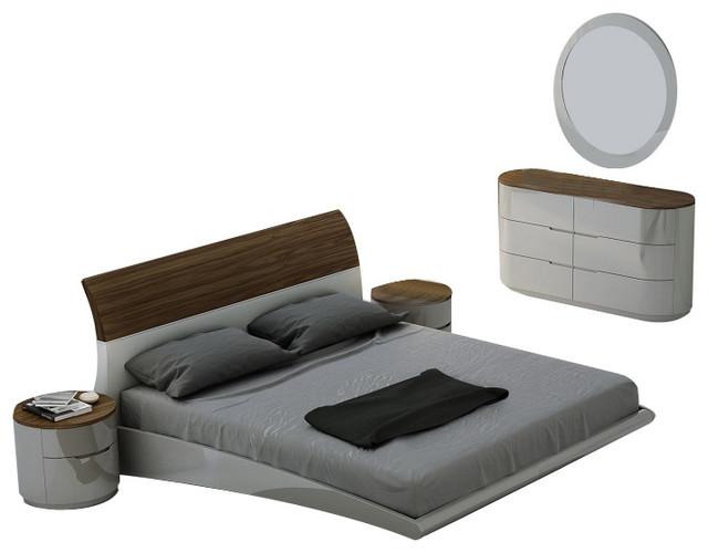 Amsterdam Premium Modern Bedroom Set, King Size