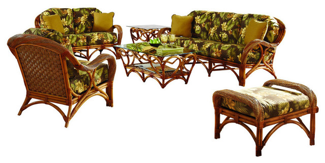 caneel bay 6 piece living room furniture set tropical living room