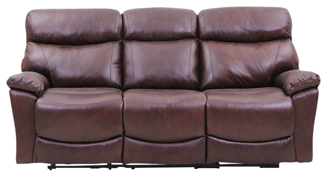 Vh Furniture Reclining Sofa Made Of Top Grain Leather.