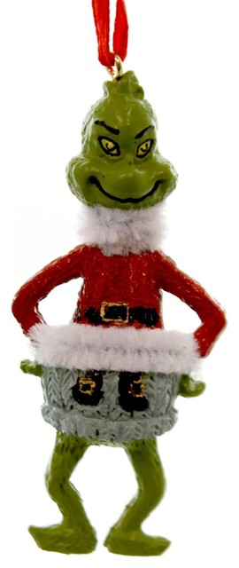 Christmas the Grinch Ornament Plastic Dr Seuss Department 56 4052908 Red