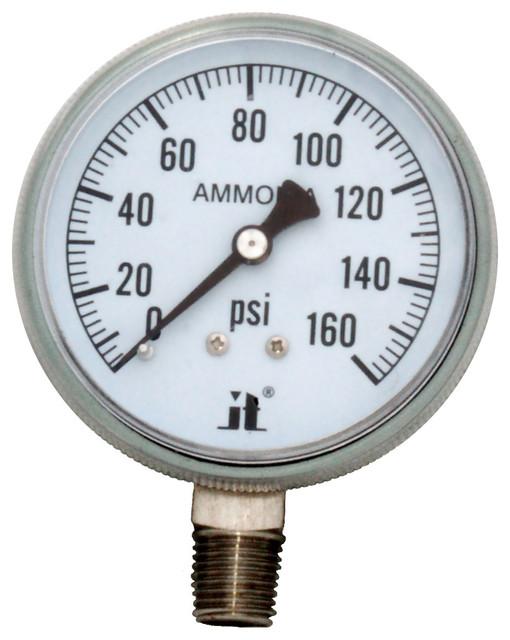 Zen-Tek Ammonia Gas Pressure Gauge, 160 Psi.