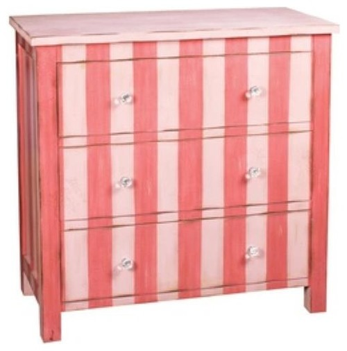 Sterling Industries Nassau Chest, Distressed Red Finish
