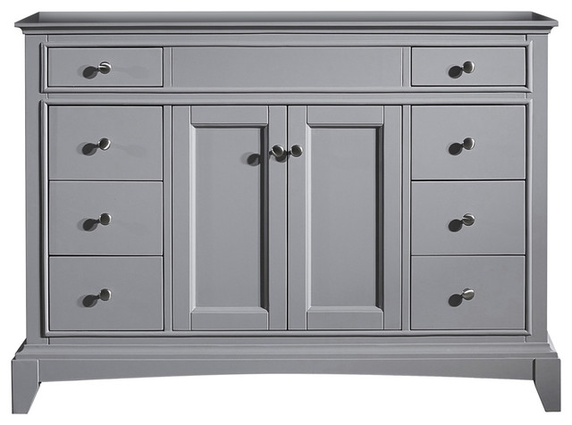 "Eviva Elite Stamford 48"" Gray Bathroom Cabinet Only."