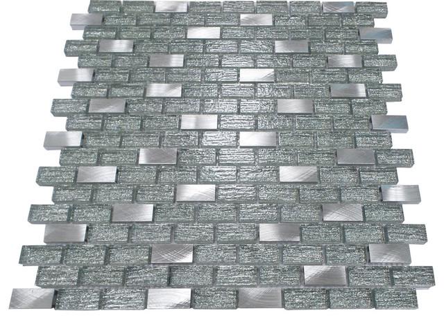 Metal Inserts And Brick Pattern Mosaic