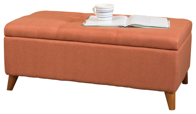 Etoney Contemporary Fabric Storage Ottoman Contemporary Footstools And Ottomans By Gdfstudio