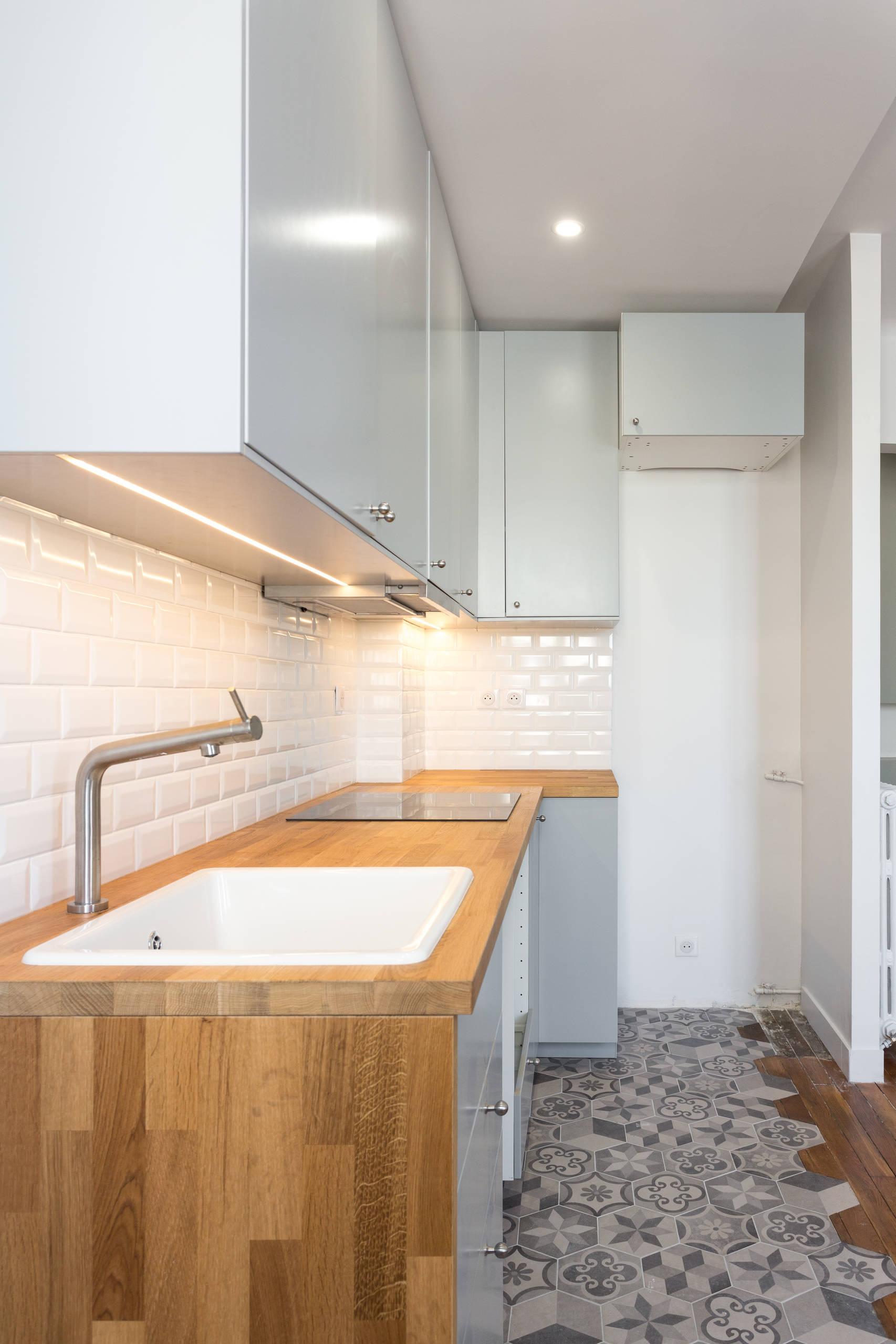 transformation d'une 23 m² a louer a courbevoie