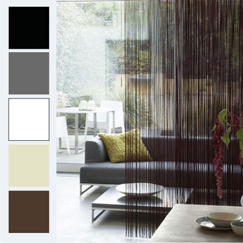 STRING Curtain Panel Fringe Room Divider BLACK Modern Curtains Melbou