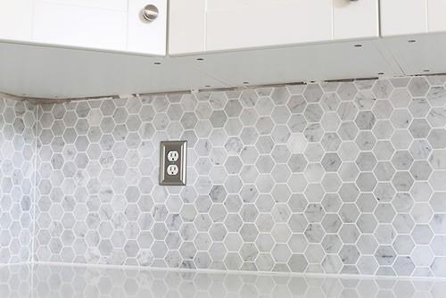 Mosaic Carrara Marble Herringbone Tile Vs Mosaic Hexagon