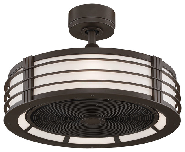 Indoor Ceiling Fans 4 Light With Oil-Rubbed Bronze Finish E12 23 inch 172  Watts