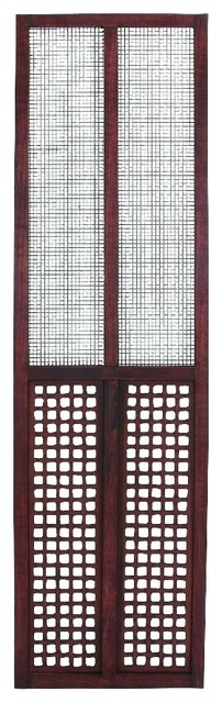 Wood Wall Panel Square Pattern Wire Screen Home.