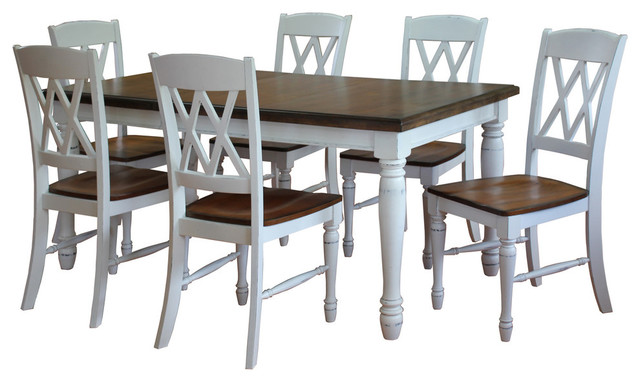 Monarch Rectangular Dining Table and 6 Double X back  : transitional dining sets from www.houzz.com size 640 x 382 jpeg 60kB