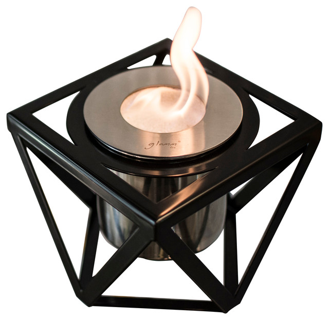 Alquimia Tabletop Fireplace, Black.