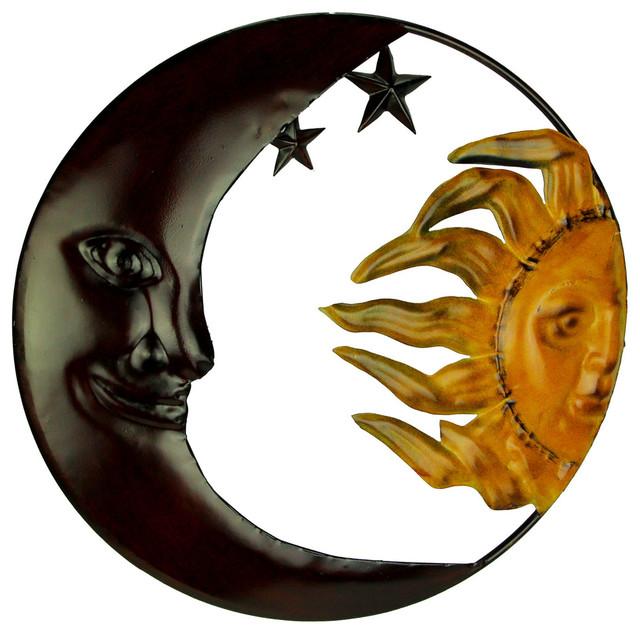 Metal Art Celestial Sun And Moon Indoor