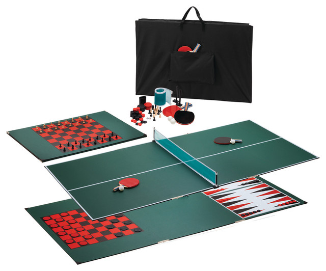 Portable 3 in 1 table tennis top traditional game for 11 in 1 game table