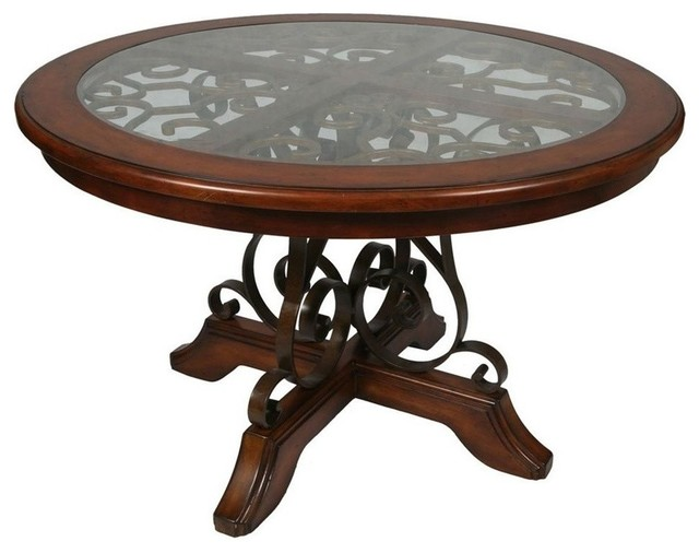 Carmel 54 Round Dining Table Cosmo Sepia Finish