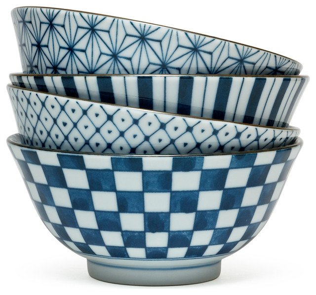Egawari Soup Bowl Set  sc 1 st  Houzz : asian living dinnerware - pezcame.com