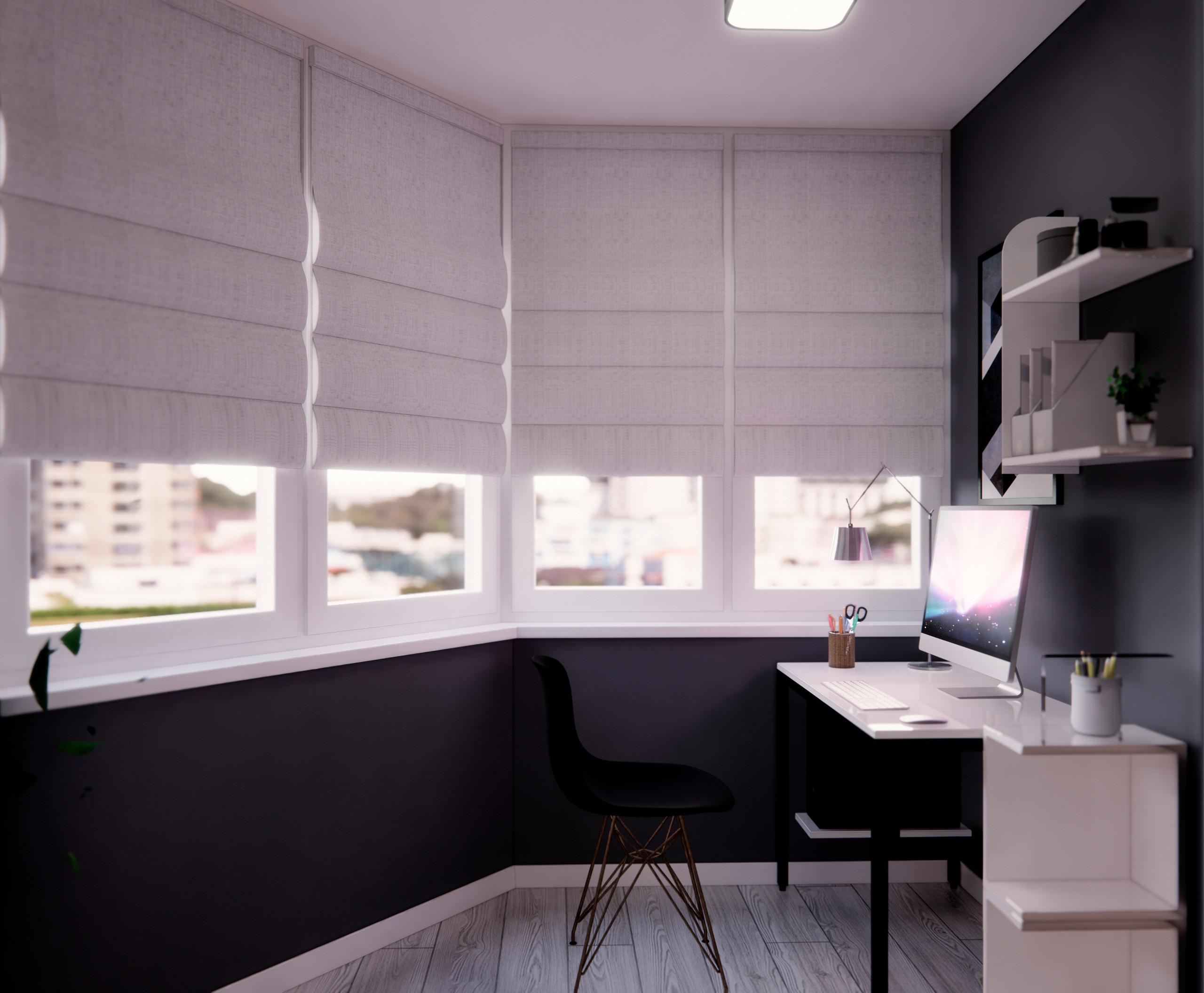 Балкон-кабинет для девушки
