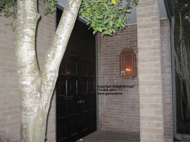 Sheryl's Extra Large Flush Mount Lantern on Mid-Century Modern Home