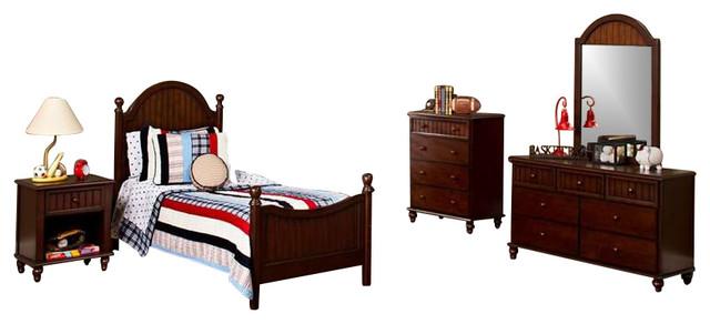 Bedroom Furniture Espresso hillsdale furniture westfield bedroom set, espresso - traditional