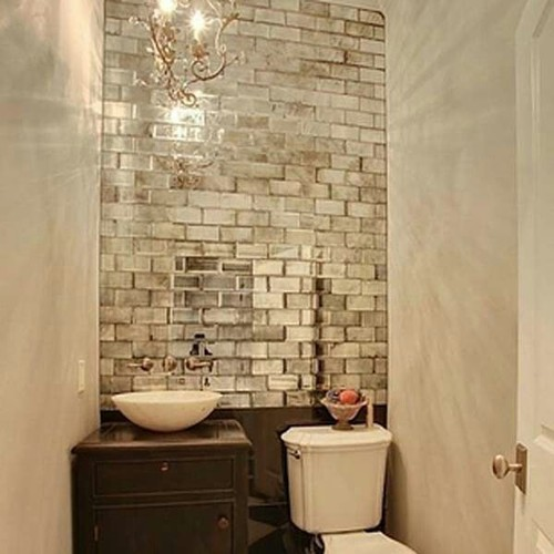mirrored subway tiles where can i find for my bathroom