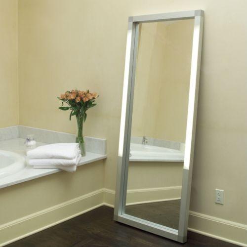 Rezek Lighted Floor Mirror - Contemporary - Mirrors - by Lumens