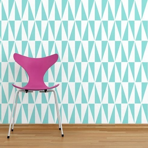 Geo Allover Wall Stencil Pattern, Reusable Stencils For Easy DIY ...