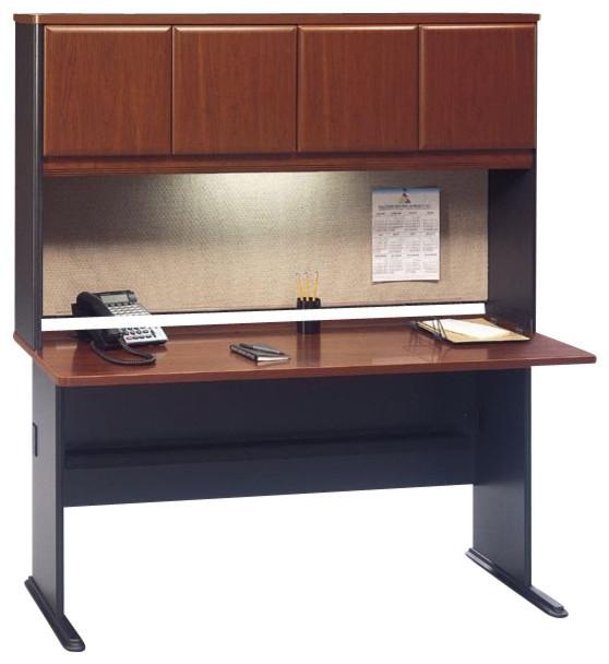 Bbf Bush Series A 60 Quot Wood Credenza Desk With Hutch In