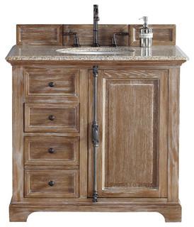 "36"" Vanity Cabinet, Driftwood - Farmhouse - Bathroom Vanities And Sink ..."