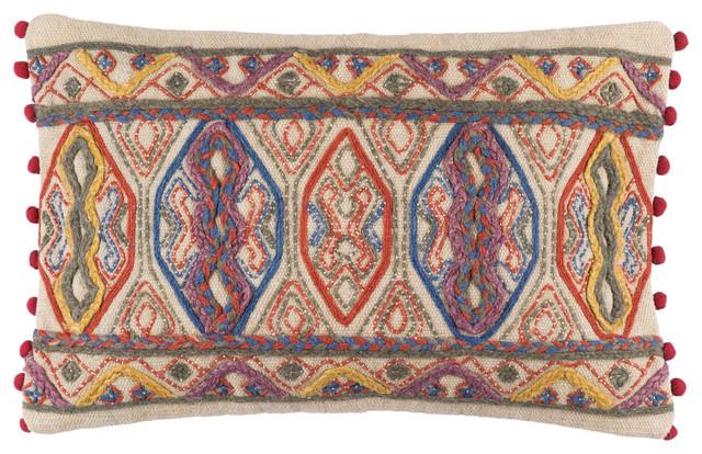 Marrakech Pillow 22x14x4, Polyester Fill.