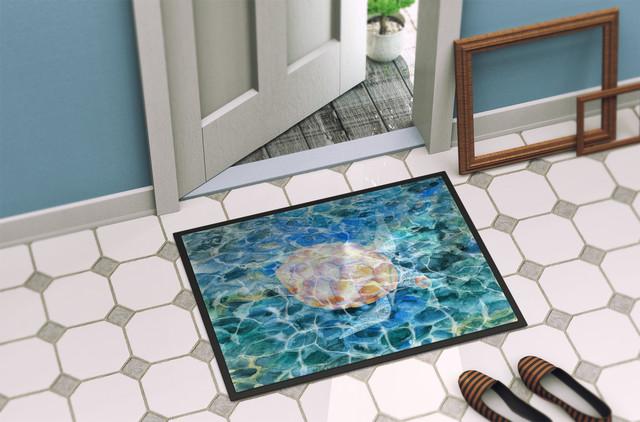 Sea Turtle Under Water Indoor/outdoor Mat, 18x27.