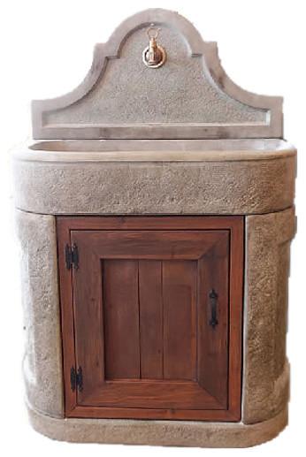 Lavadino Outdoor Cast Stone Garden Sink