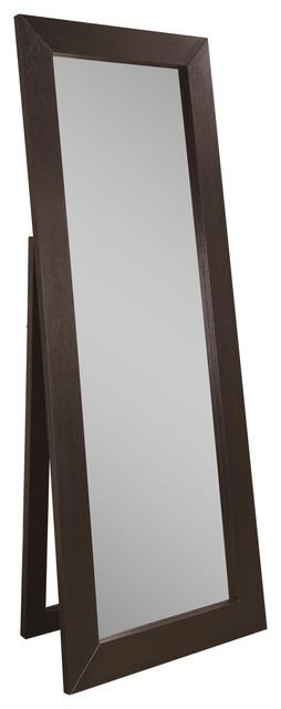 Black Finish Floor Mirror.