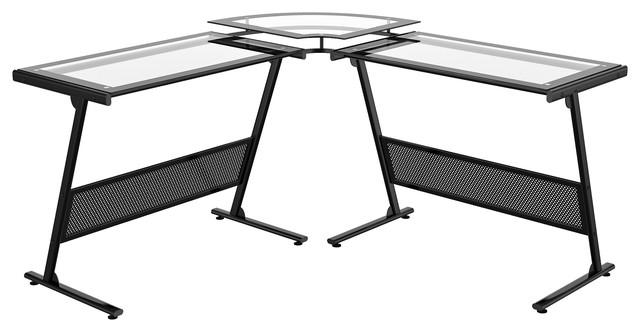 Delano Glass L Computer Desk.