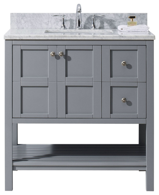 Winterfell Single Bathroom Vanity Cabinet Set Gray - Single bathroom vanity cabinets