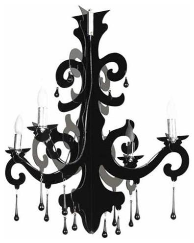 Bari Black Acrylic Chandelier
