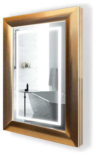 Led Lighted Bathroom Frame Mirror With