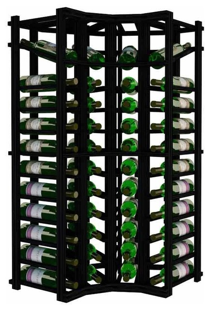 Antalia Wine Rack, Redwood And Black.
