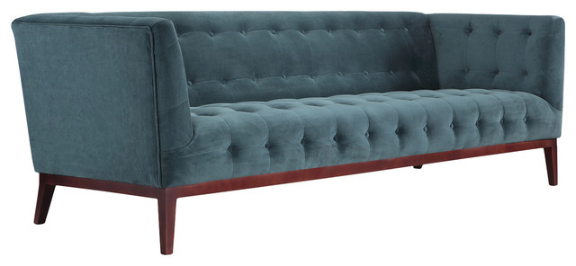 Margaret Midcentury Modern English Tufted Sofa