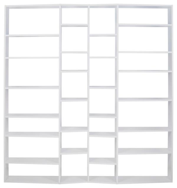 Valsa Composition 2012-003 Shelving Unit, Pure White.