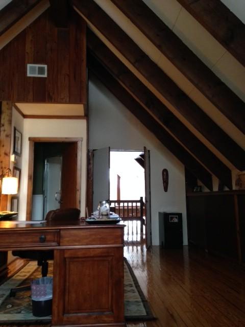 A-frame attic room needs facelift: