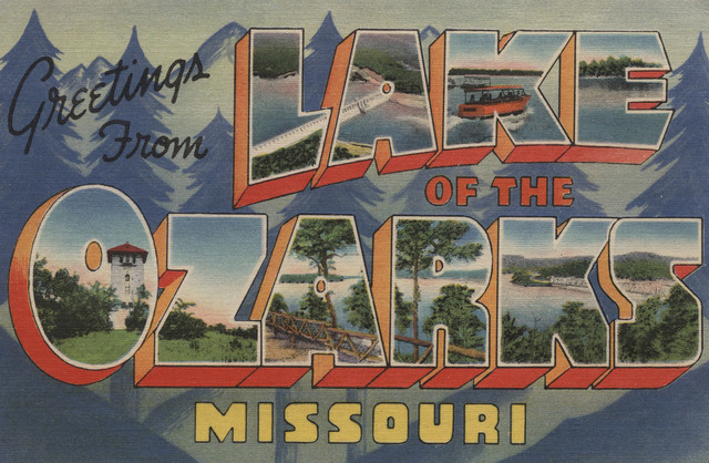 Quot Greetings From Lake Of The Ozarks Missouri Quot Print