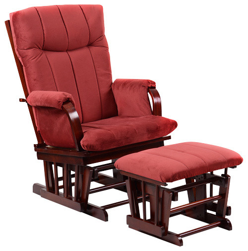 finest selection 9fd36 dcca5 Home Deluxe Glider Chair and Ottoman, Marsala