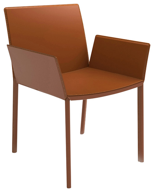 Sanctuary Leather Dining Chair With Arms Modern Dining