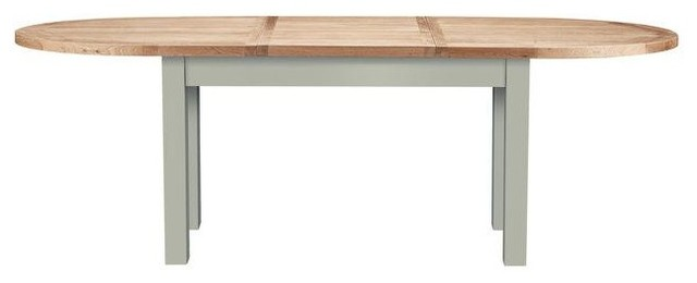 Bretagne Oval Extendable Dining Table, Rockford Grey