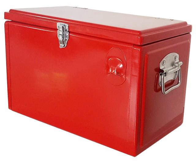 21qt Portable Picnic Cooler, Red.