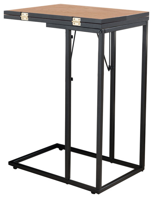 save off 5cb7c 5461e Margaux Foldable Side Table, Black and Walnut