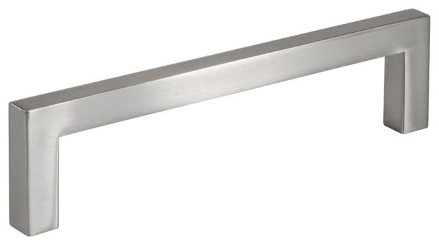 Celeste Square Bar Pull Cabinet Handle Brushed Nickel 9mm, 5 Hole Spacing.