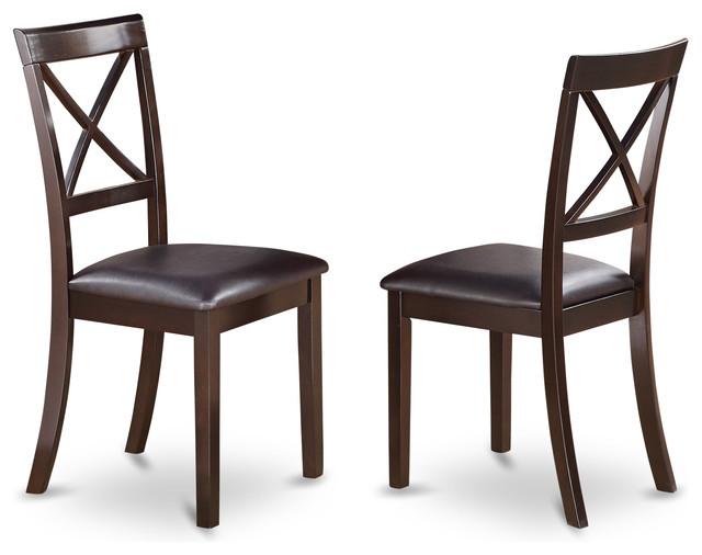Boston Boc-Cap-Lcdining Chairs, Set Of 2.