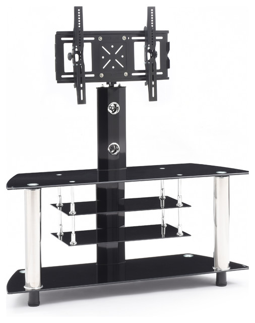 Glass Tv Stand With Mount Modern Entertainment Centers And Tv