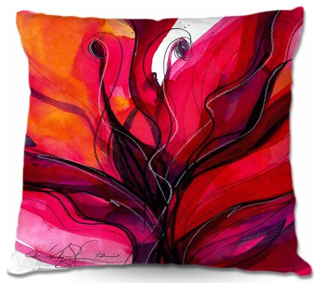 "Throw Pillow Soul Flower 60, 16""x16""."